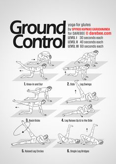 Ground Control Yoga workout for glutes and lower back. Cardio Workout At Home, Boxing Workout, Fun Workouts, At Home Workouts, Ace Fitness, Yoga Fitness, Fitness Exercises, Training Motivation, Fitness Motivation Quotes