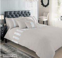 Luxury Diamante Duvet Cover Set With Pillow Cases, Designer Bed Linen Quilt Sets   eBay