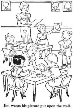 Free coloring pages about family that you can print out for your kids Free Kids Coloring Pages, Coloring Book Pages, Free Coloring, Coloring Pages For Kids, Coloring Sheets, Art Drawings For Kids, Outline Drawings, Drawing For Kids, Vintage Coloring Books