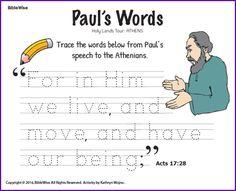 Paul's Words - Kids Korner - BibleWise