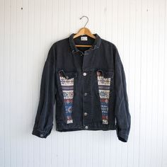 Vintage Southwestern Grunge Denim Jacket by PaxSuburbiaGirls on Etsy