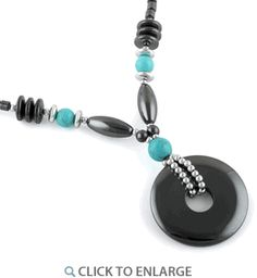 """18"""" Round Extravagant Turquoise Stones #HematiteNecklace * $6.41 Leather Cuffs, Leather Jewelry, Metal Jewelry, Diy Jewelry, Jewelry Necklaces, Hematite Necklace, Dreamland Jewelry, Country Jewelry, Button Bracelet"""
