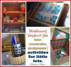 Montessori Inspired { fine motor, concentration, developmental } activities for little tots from Montessori Nature