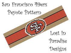 Peyote Bracelet Pattern  San Francisco 49ers  by LostInParadise, $6.50
