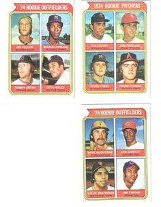 1974 Rookies Lot of Three Cards : #'s 605 , 606 , 598