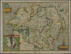 The Province Ulster, Ireland - John Speed proof maps 1605-1610 | Flickr: Intercambio de fotos