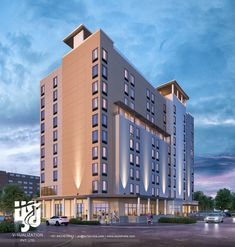 Visualization is expert in architectural rendering, walkthrough, architecural visualization, animation, interior design and realistic rendering Hotel Design Architecture, Architecture Visualization, 3d Visualization, 3d Architectural Rendering, Front Elevation, Commercial Design, Exterior Design, Multi Story Building, Modern