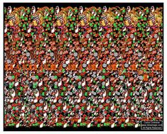 Stereogram by Carlos Contreras: Trone. Tags: , hidden 3D picture (SIRDS)