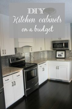 DIY White Kitchen Cabinets | construction2style