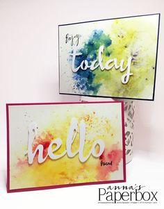 Grußkarten mit Produkten von Stampin' Up! - Brusho Colours