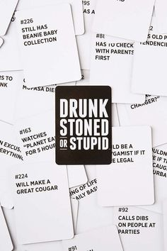 Drunk Stoned Or Stupid Party Game - Urban Outfitters