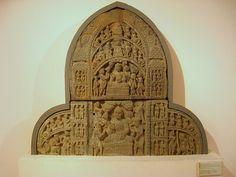 Buddhist stone sculpt. National Museum in New Dehli.