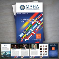 #EditorialDesign | We designed The Massachusetts Association of Hispanic Attorneys' Annual Awards Reception program book, this time for 2016. We are very pleased with the entire experience, and we look forward to our next collaboration together!
