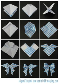 Origami bow - Click to view full instructions
