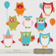 Owl Clip Art | Clementine Digitals | Owl clip art by Clementine Digitals