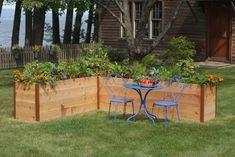 Elevated Cedar Raised Garden Beds - The Green Head