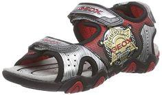Geox JR SANDAL STRIKE A, Jungen Sandalen, Mehrfarbig (LEAD/SILVERC0999), 27 EU - http://on-line-kaufen.de/geox/27-eu-geox-jr-sandal-strike-a-jungen-sandalen-2