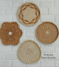 VK is the largest European social network with more than 100 million active users. Cheap Wall Decor, Wall Shelf Decor, Baskets On Wall, Wicker Baskets, Paper Basket Weaving, Crochet Coaster Pattern, Crochet Motif, Sewing Baskets, Basket Decoration