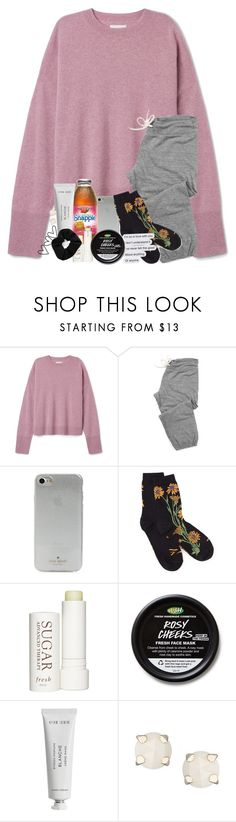 """Can't wait to get some sleep"" by southernstruttin ❤ liked on Polyvore featuring Monrow, Kate Spade, Therapy, Byredo, Kendra Scott and Topshop"