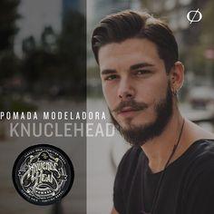 Você está com dificuldade para acertar seu penteado? Conheça então a pomada modeladora da KNUCKLEHEAD. Indicada pelos barbeiros de todo o Brasil a pomada tem forte fixação efeitos matte ou com brilho além de uma suave fragrância! Adquira a sua também. #pomadamodeladora #knuckleheadpomade