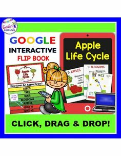 If your class is studying apples this year, your students will LOVE this apple life cycle digital flipbook! This no prep Google Drive flip book, is an engaging way to infuse technology into your classroom.Perfect for 1:1 and Google Classroom!