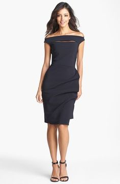 In love....La Petite Robe by Chiara Boni Off Shoulder Sheath Dress available at #Nordstrom