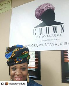 @crownbyavalaura is in the house! Stop by the designers Trunk Show at 6490 Landover Rd Suite A Hyattsville MD now. Get your designer crown! #DMV #headwraps #headwrapswag #wrapitup #wraplife #queenswherecrowns #crownbyavalaura