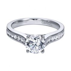 Best  cttw Classic Channel Set Round Diamond Engagement Ring