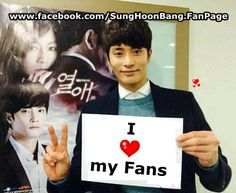 [ Happy New Year ] I Love my Fans ^^  With Love from #SungHoon @bbangsh83 #성훈 @TMSH83 #ソンフン  And Sung Hoon Facebook Fan page  FACEBOOK : www.facebook.com/SungHoonBang.FanPage