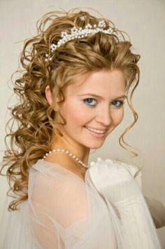 #WeddingHair #Curls #Bride