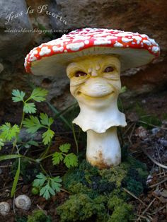 Amanita Muscaria . Ooak and Fantasy Art by Silver Berry.