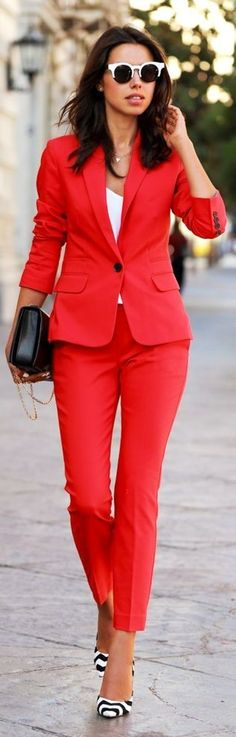 Red Women's Taylor Suit