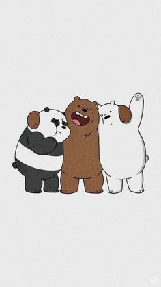Cute Panda Wallpaper, Cartoon Wallpaper Iphone, Disney Phone Wallpaper, Bear Wallpaper, Cute Wallpaper Backgrounds, Pretty Wallpapers, Galaxy Wallpaper, We Bare Bears Wallpapers, Panda Wallpapers