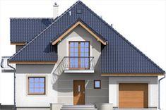Elewacja ARD Kasztan 3 paliwo stałe CE Design Case, Window Design, Malaga, Home Fashion, My House, Villa, Floor Plans, Outdoor Structures, House Design