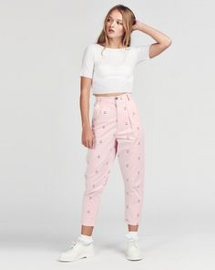 happy pants (printed with smiley and sad faces) // lazy oaf