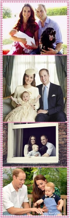 Official Family Portraits of The Duke and Duchess of Cambridge and Prince George...happy first birthday to the little prince!
