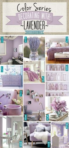 Color Series; Decorating with Lavender. Lavender, purple, lilac home decor. | A Shade Of Teal
