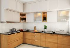 60 Contemporary Wooden Kitchen Cabinets For Home Inspiration. Choosing the perfect wooden kitchen cabinets for your home is not as simple as it might appear. Very Small Kitchen Design, Best Kitchen Design, Kitchen Room Design, Kitchen Cabinet Design, Interior Design Kitchen, Moduler Kitchen, Kitchen Ideas, Kitchen Vastu, Minimal Kitchen
