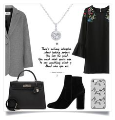 """Без названия #102"" by eseniya-yliss59 on Polyvore featuring мода, MM6 Maison Margiela, MANGO, Hermès, Music Notes и EWA"