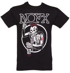 Men's Black Old #Skull #NOFX T-Shirt xoxo
