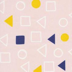 Leah Duncan fabric printed on organic cotton canvas! Love the geometric design!