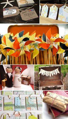 {Etsy Finds} Travel-themed Wedding Decor