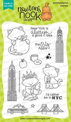 Newton Dreams of New York Stamp Set by Newton's Nook Designs | #newtonsnook