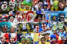 BRAZIL, Rio de Janeiro : A combination of pictures taken in June 2014 shows supporters from various countries during the 2014 FIFA World Cup in Brazil. AFP PHOTO