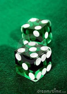 Color Esmeralda - Emerald Green!!! Dices