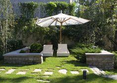 #garden #landscape #architecture #green #art Landscape Architecture, Landscape Design, Natural Garden, Outdoor Living, Outdoor Decor, Bucharest, Garden Landscaping, Fields, Home And Garden