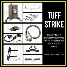 Door reinforcement for entry doors to prevent forced entry. Heavy duty residential and commercial door hardware by TUFF STRIKE. Safe Home Security, Home Security Devices, Security Door, Door Reinforcement, Commercial Door Hardware, Cctv Security Systems, Cctv Surveillance, Home Defense, Home Safety