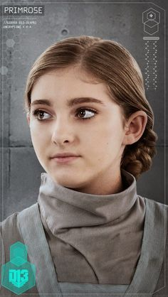 The Hunger Games: Mockingjay - Part 1 Character Portraits found in District 13 schematic: Primrose Everdeen
