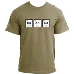 Big Bang Theory BaZnGa Periodic Table Sheldon Cooper Bazinga Geek T-Shirt 428ce09cd00