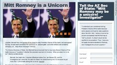 Prove Mitt is not a Unicorn.  Funny!